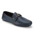 Versace Collection Men's Leather Driving Shoes - Blue: Image 2