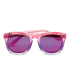 Wildfox Women's Classic Fox Deluxe Sunglasses - Night Fall/Purple Mirror: Image 1