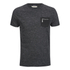 Brave Soul Men's Exit Zip Pocket T-Shirt - Charcoal: Image 1