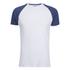 Brave Soul Men's Baptist Raglan Sleeve T-Shirt - White/Ink Blue: Image 1