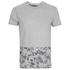 Threadbare Men's Pocket & Floral Hem T-Shirt - Grey: Image 1