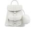 Grafea Women's Snowball Fur Pom Backpack - White: Image 1