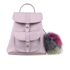 Grafea Women's Valerie Fur Pom Backpack - Lilac: Image 1