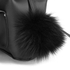 Grafea Women's Fluffy Fur Pom Backpack - Black: Image 6