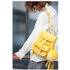 Grafea Women's Sunny Fur Pom Backpack - Yellow: Image 3