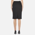 Carven Women's Full Zip Pencil Skirt - Black: Image 3