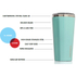 Corkcicle Canteen Triple Insulated Tumbler 16 oz - Gloss Turquoise: Image 2