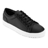 ETQ. Men's Low Top 1 Rubberized Leather Trainers - Black: Image 2