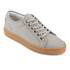 ETQ. Men's Low Top 1 Rubberized Leather Trainers - Alloy/Gum: Image 2