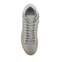 ETQ. Men's Mid Top 2 Rubberized Leather Trainers - Alloy/Gum: Image 3