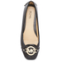 MICHAEL MICHAEL KORS Women's Fulton Patent Leather Moc Pumps - Black: Image 3