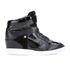MICHAEL MICHAEL KORS Women's Nikko Leather Hi-Top Wedged Trainers - Black: Image 1