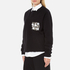 MSGM Women's Embellished Pocket Sweatshirt - Black: Image 2