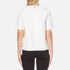 MSGM Women's Side Ruffle Short Sleeve Top - White: Image 3