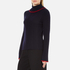 MSGM Women's Ruffle Rollneck Jumper - Navy: Image 2