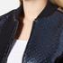 MSGM Women's Metallic Tweed Bomber Jacket - Blue: Image 5
