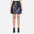 MSGM Women's Metallic Tweed Skirt - Blue: Image 1