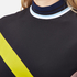 MSGM Women's High Neck Long Sleeve Dress with Contrast Diamond Print - Black: Image 4
