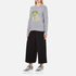 KENZO Women's Flower Logo Knitted Jumper - Light Grey: Image 4