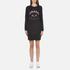 KENZO Women's Eye Sleeve Logo Sweatshirt Dress - Black: Image 1