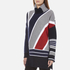 KENZO Women's Multi Colour Abstract Roll Neck Jumper - Midnight Blue: Image 2