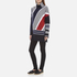 KENZO Women's Multi Colour Abstract Roll Neck Jumper - Midnight Blue: Image 4