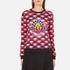KENZO Women's All Over Print Nagai Tanami Flower Logo Sweatshirt - Red: Image 1