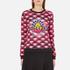 KENZO Women's All Over Print Nagai Tanami Flower Logo Sweatshirt - Red: Image 1