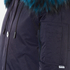 KENZO Women's Removable Navy Fur Lined Short Parka - Midnight Navy: Image 6
