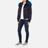 KENZO Women's Removable Navy Fur Lined Short Parka - Midnight Navy: Image 4