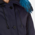 KENZO Women's Removable Navy Fur Lined Short Parka - Midnight Navy: Image 5