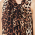 Boutique Moschino Women's Tie Neck Top - Leopard: Image 5