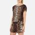 Boutique Moschino Women's Tie Waist Playsuit - Leopard: Image 2