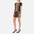 Boutique Moschino Women's Tie Waist Playsuit - Leopard: Image 4