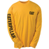 Caterpillar Men's Trademark Long Sleeve T-Shirt - Yellow: Image 1