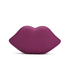 Lulu Guinness Women's Powder Coated Lips Clutch - Cassis: Image 5