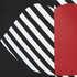 Lulu Guinness Women's Larysa 50:50 Lips Large Stripe Tote Bag - Black/White/Red: Image 4