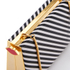 Lulu Guinness Women's Karlie Leather Striped Clutch with Lip Closure - Black/White: Image 4