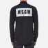 MSGM Men's MSGM Reflective Logo Back Denim Shirt - Black: Image 3
