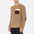 MSGM Men's Contrast Pocket Knitted Jumper - Brown: Image 2