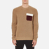MSGM Men's Contrast Pocket Knitted Jumper - Brown: Image 1