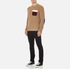 MSGM Men's Contrast Pocket Knitted Jumper - Brown: Image 4