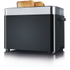 Graef TO62.UK 2 Slice Compact Toaster - Black: Image 7