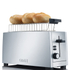 Graef TO100.UK 4 Slice Long Slot Toaster - Silver Gloss - Stainless Steel: Image 3