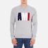 AMI Men's AMI Logo Crew Neck Sweatshirt - Heather Grey: Image 1