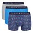 Tommy Hilfiger Men's 3 Pack Icon Trunk Boxer Shorts - Alloy/Samba/Brilliant Blue: Image 1