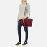 Aspinal of London Women's Marylebone Medium Croc Tote - Bordeaux: Image 6
