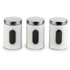 Salter Marble Collection White 3 Piece Window Canister Set: Image 1