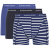 Bjorn Borg Men's 3 Pack Stripe Detail Boxer Shorts - Sodalite Blue: Image 1