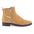 KENZO Women's Totem Flat Ankle Boots - Tan: Image 1